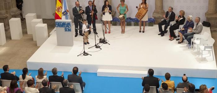 actuación en el evento de las medallas castelao