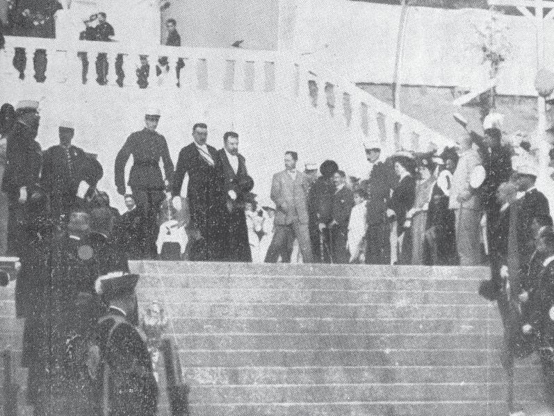 el rey Alfonso XIII en la expo regional gallega de 1909, grandes eventos en santiago de compostela