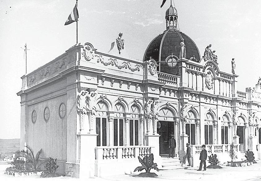 pabellon del centro galego da Habana en la expo regional gallega de 1909: grandes eventos  en santiago de compostela