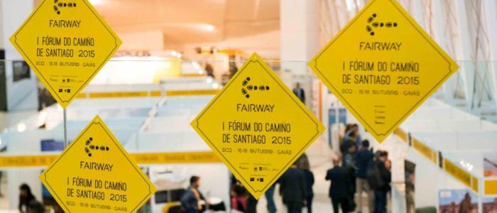 feria comercial en evento Fairway Forum del camino de santiago