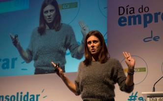 Edurne Pasabán en el evento Día do Emprendedor de Galicia