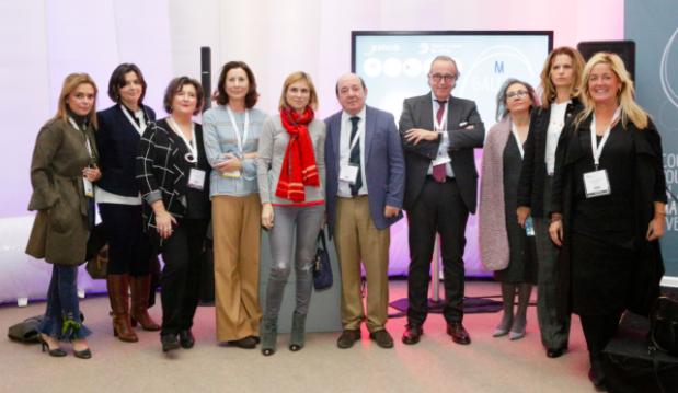 OPC Galicia durante el acto de presentación de Galicia MICE en la IBTM World de Barcelona