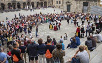 Flashmob en la Praza de Praterías de Santiago eventos congresos