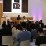 ponencia en el evento conecta fiction, en Santiago