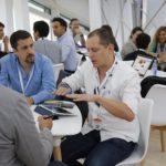 reunión en el evento conecta fiction, en Santiago