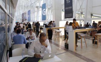 reuniones de trabajo en el evento conecta fiction, en Santiago