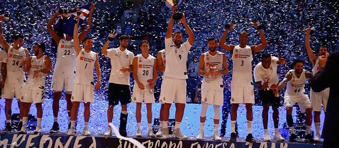 Real Madrid, campeón Supercopa Endesa de baloncesto ACB, evento en Santiago de Compostela