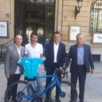 Mikel Azparren en el reto ciclista