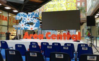 escenografía del evento aniversario de área central