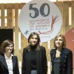Mar Lorenzo Carmen Pomar, María Emilia Vázquez Rozas no 50 aniversario de estudios de economía e