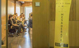 Totem en Fairway Forum del Camino de Santiago