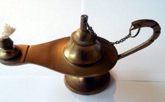 Lámpara mágica en una entrada sobre los eventos