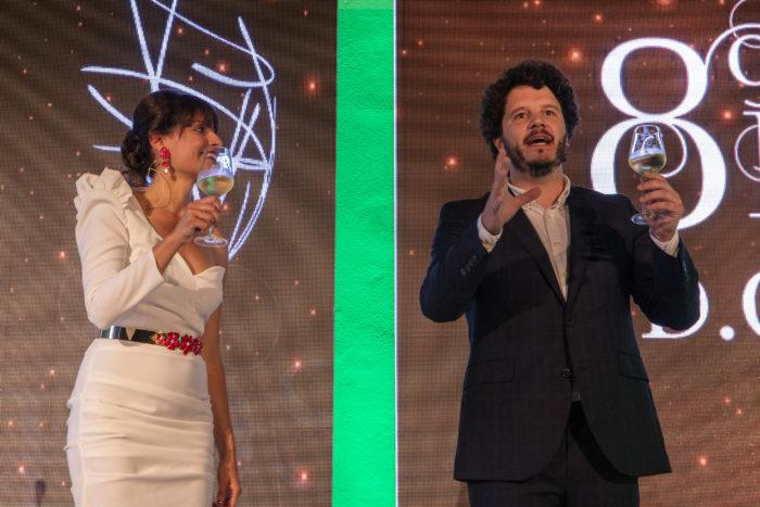 Premios Ribeiro 2019. Ledicia Sola y Xosé Antonio Touriñán.
