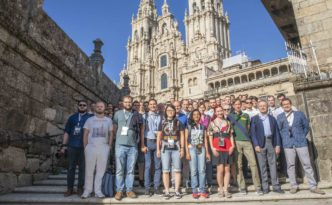 Congreso TWEPP 2019 en la Praza do Obradoiro de Santiago, Galicia