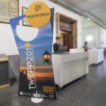 Congreso TWEPP 2019 en la Facultad de Químicas de la Universidad de Santiago, Galicia. Pasillos de la Universidad.