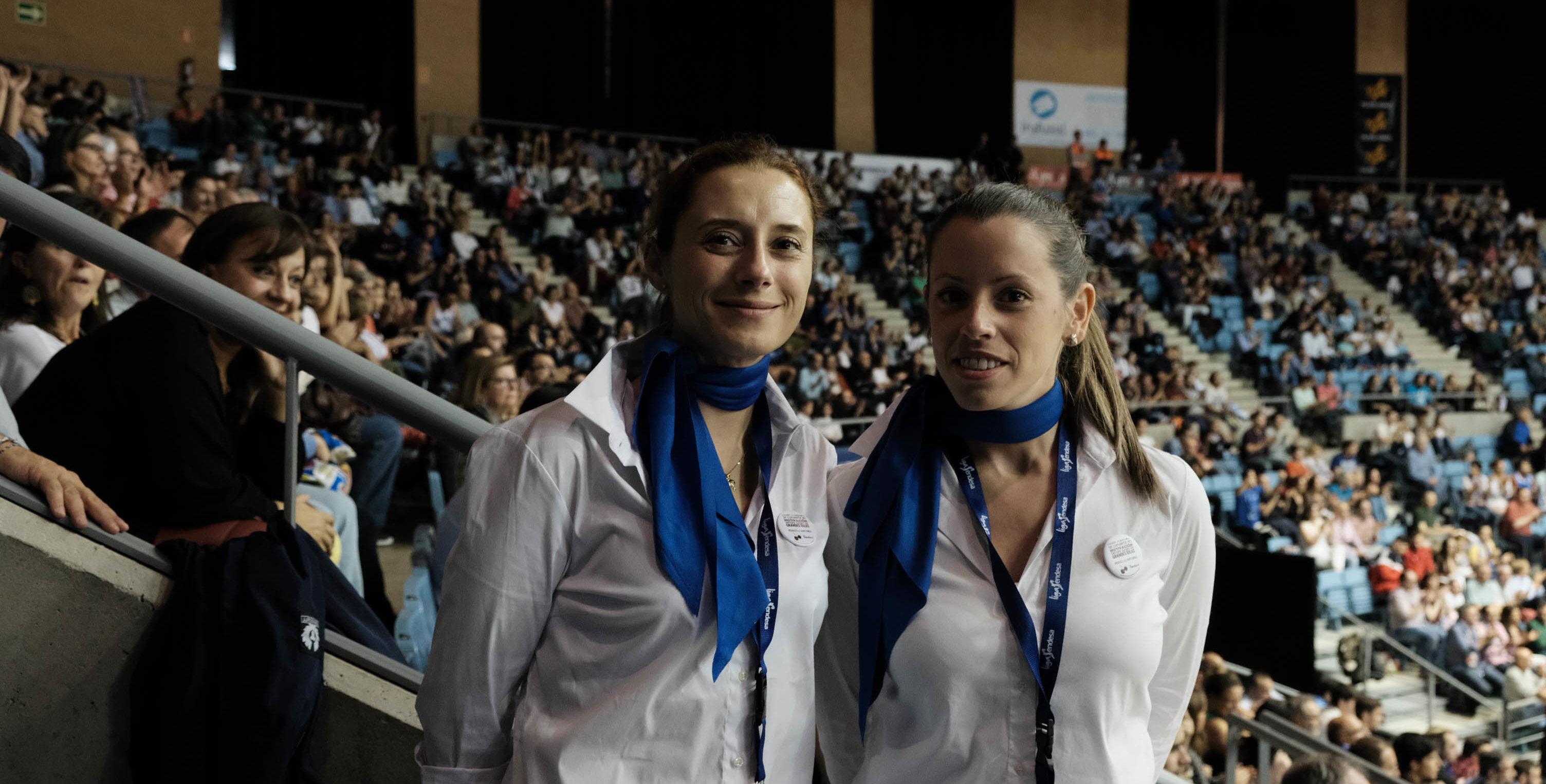 Azafatas de Trevisani en un partido del Obradoiro en Sar. Fotógrafo Xaime Cortizo