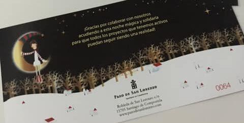 entradas de la gala de Navidad de la Fundación Andrea de Santiago