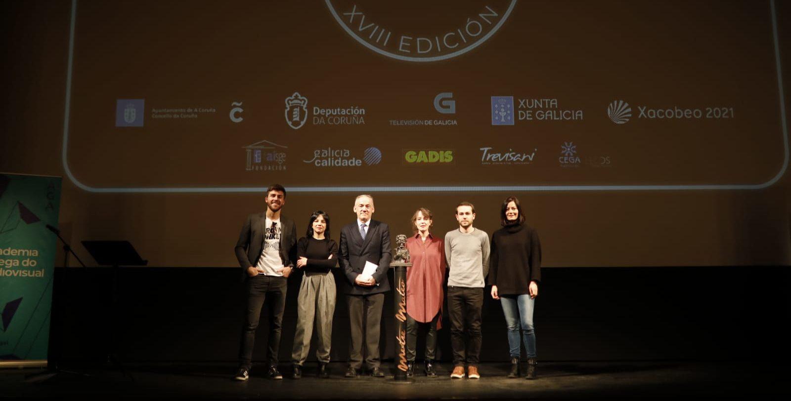 Proclamación finalistas premios mestre mateo. Foto Academia Galega do Audiovisual. Eventos en Galicia.